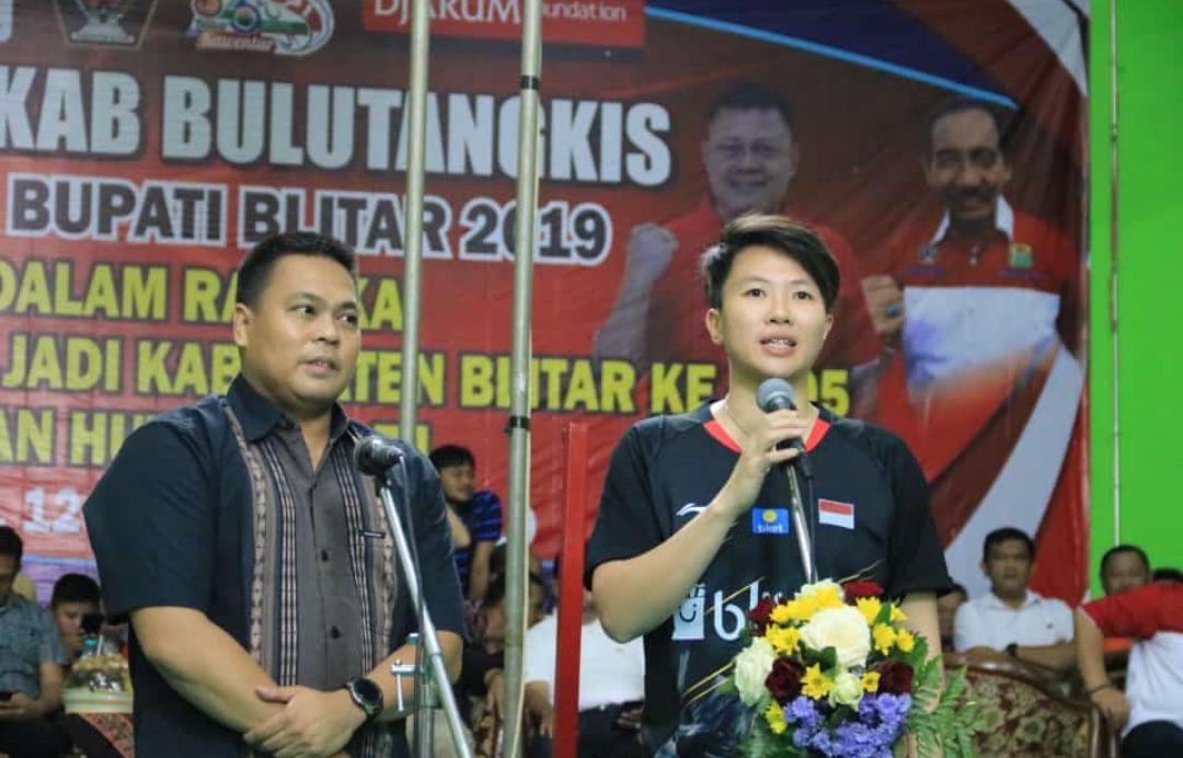 Liliyana Natsir dan Markis Kido Ikut Memeriahkan Pembukaan Kejurkab Bulutangkis Piala Bupati Blitar 2019