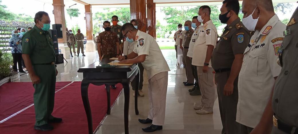 Tingkatkan Tupoksi Kinerja, Satpol PP Kabupaten Blitar Kerjasama dengan Satpol PP Provinsi Jawa Timur